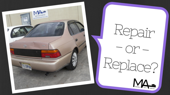 Used car, repair or replace?
