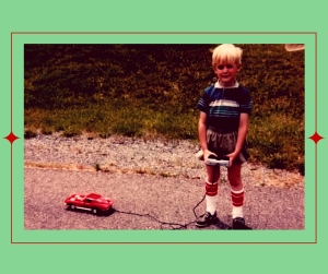 Andrew with Toy Car